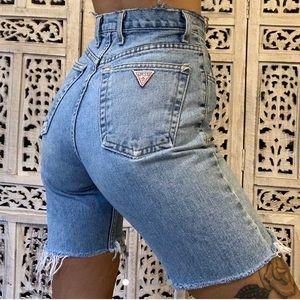 "VTG Guess Lightwash Jean Shorts 24""/XXS"